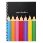 Pencil colours * choose your background colour notebook