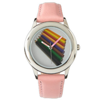 Pencil colours wrist watches