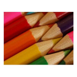 Pencil Crayons Postcards