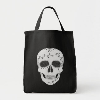 Pencil Drawing Day of the Dead Sugar Skull Tote Bag