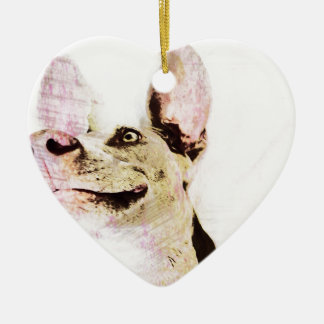 Pencil drawing Weimaraner Ceramic Heart Decoration