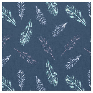Pencil Feathers Combed Cotton Fabric