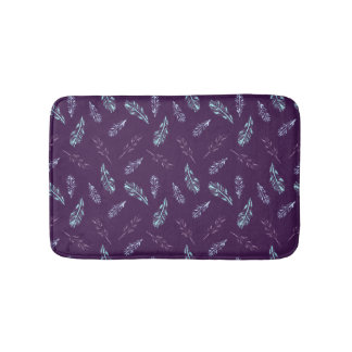 Pencil Feathers Small Bath Mat