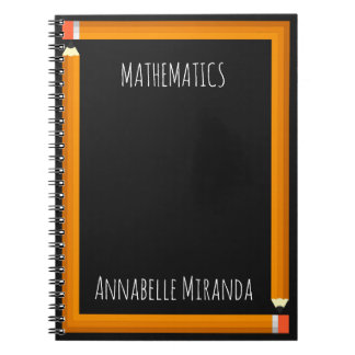 Pencil Frame Spiral Notebooks