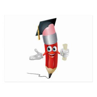 Pencil graduate education concept postcard