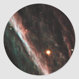 Pencil Nebula Remnants of Exploded Star NGC 2736 Round Sticker