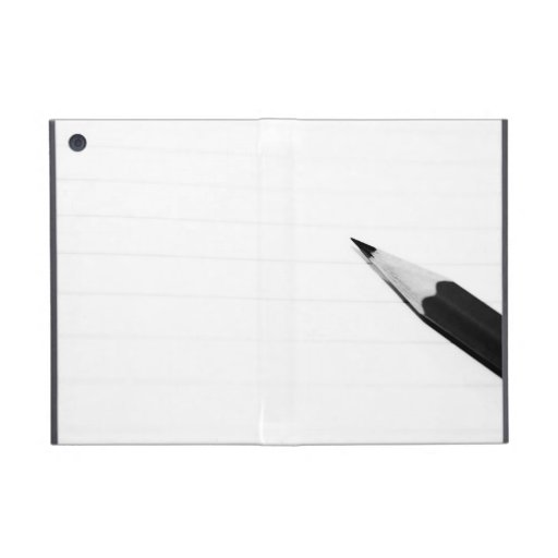 Pencil on a notebook cover covers for iPad mini