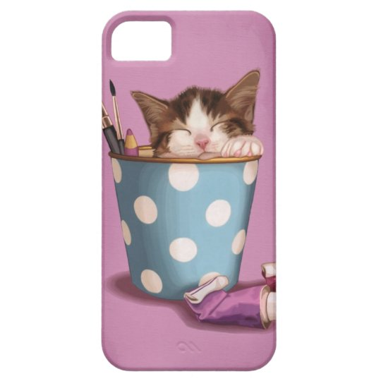 Pencil pot kitten barely there iPhone 5 case