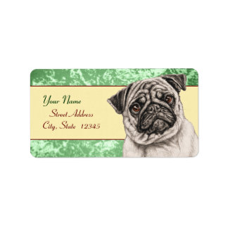 Pencil Pug Label