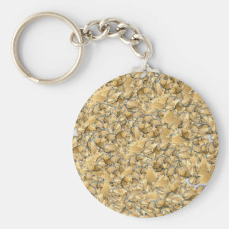 Pencil remainders basic round button key ring
