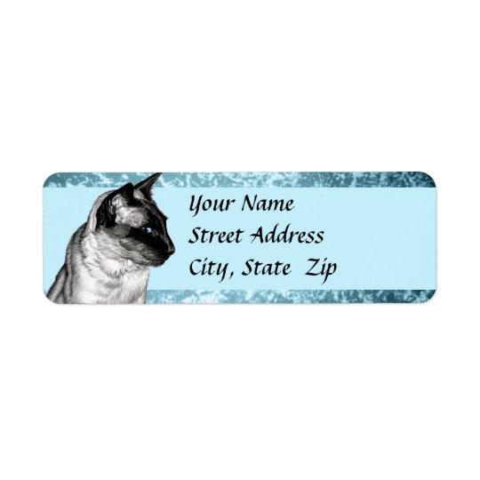 Pencil Siamese Return Address Label
