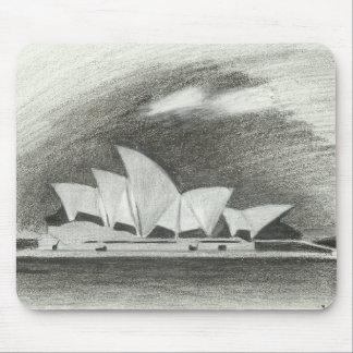 Pencil sketch Sydney Opera House Mouse Mat