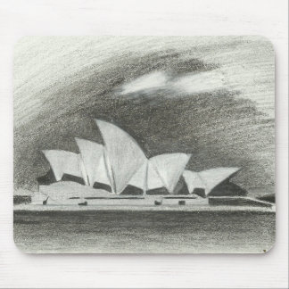 Pencil sketch Sydney Opera House Mouse Pad