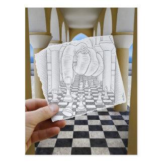 Pencil Vs Camera - Checkmate Postcard