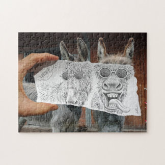 Pencil Vs Camera - Crazy Donkeys Jigsaw Puzzle