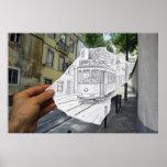 Pencil Vs Camera - Lisbon Tram Print