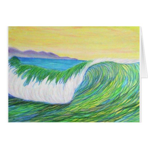 pencil wave greeting cards