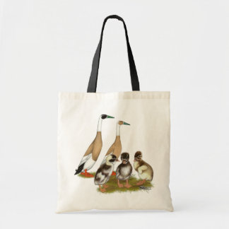 Penciled Runner Duck Family Canvas Bags