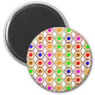 Pencils 6 Cm Round Magnet