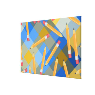 Pencils Stretched Canvas Prints
