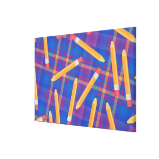Pencils Stretched Canvas Print