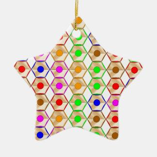 Pencils Ceramic Star Decoration