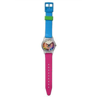 Pencils colors in range wrist watches