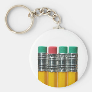 Pencils over white key ring