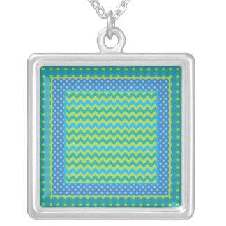 Pendant Necklace: Mix'n'Match Chevrons, Polka Dots