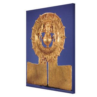 Pendant representing a sun disk, Zaachila Canvas Print