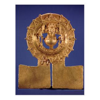 Pendant representing a sun disk, Zaachila Postcard