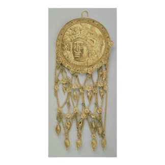 Pendant with the head of Athena Parthenos Poster