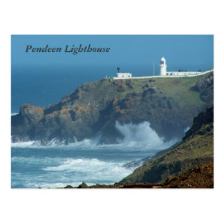 Pendeen Lighthouse Cornwall England Photo Postcard