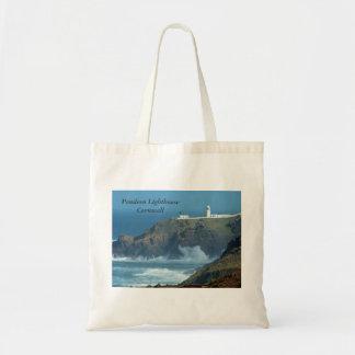 Pendeen Lighthouse Cornwall England Photo Tote Bag