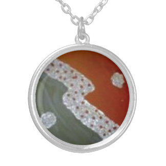 pendentive collar silver plated necklace