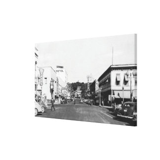 Pendleton, Oregon Main Street View Photograph 2 Canvas Print