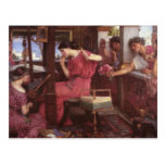 Penelope And The Suitors - John William Waterhouse Postcards