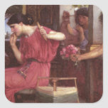 Penelope And The Suitors - John William Waterhouse Square Sticker