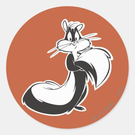 Penelope Grabbing Tail Round Sticker