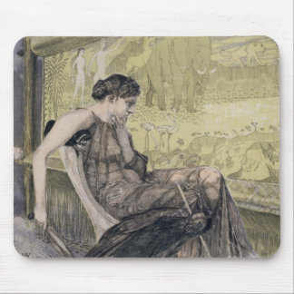 Penelope weaving a shroud for Laertes her father-i Mouse Mat