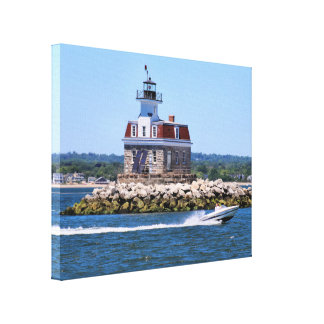 Penfield Reef Lighthouse, Connecticut Canvas Print