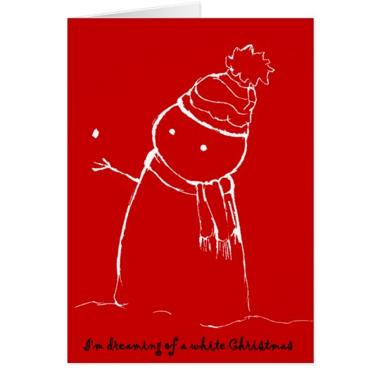 PengiHoliday wishing snowman card