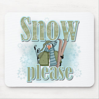 Pengin Ski Snow Please Mouse Pads