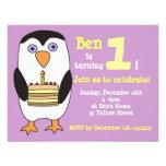 Penguin 1st Birthday Invitation, Birthday Party