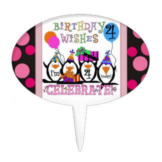 Penguin 4th Birthday Cake Topper