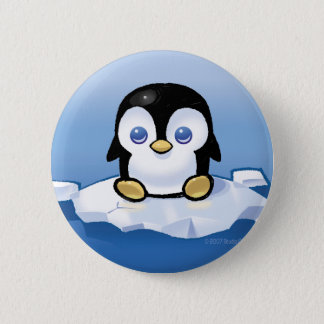 Penguin 6 Cm Round Badge