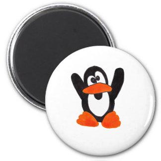 Penguin 6 Cm Round Magnet