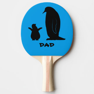 Penguin and Chick in Silhouette Name Customizable