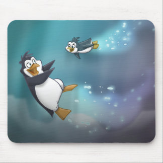 Penguin and Child Mouse Pad