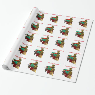 Penguin and Christmas Train Wrapping Paper